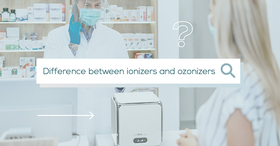 Difference between ionizers and ozonizers